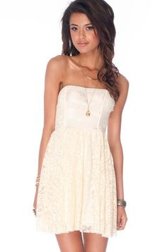 Kinsey Laced Dress in Vanilla $29 at www.tobi.com