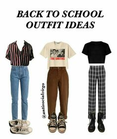 here's some back to school outfit ideas that are dress code appropriate for u thotties that are starting school soon ? here's some back to school outfit ideas that are dress code appropriate for u thotties that are starting school soon ? Retro Outfits, Mode Outfits, Outfits For Teens, Vintage Outfits, Casual Outfits, Hipster School Outfits, School Appropriate Outfits, Artsy Outfits, Dress Vintage