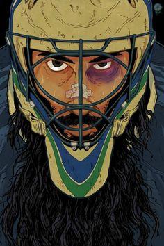 Roberto Luongo artwork by Peter Diamond #luongo #roberto #vancouver #canucks #peter #diamond #goalie #comic #style