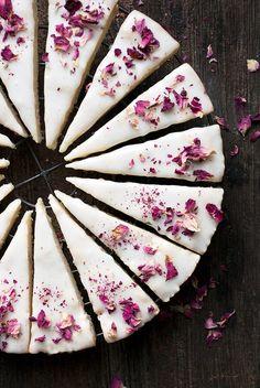 Vanilla Rose Shortbread Cookies