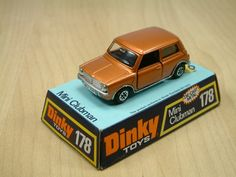 Dinky Toy, Leyland Mini Clubman. Metallic Bronze with jewelled headlights. This diecast model was produced between 1975 and 1980.