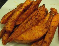 Spicy Sweet Potato Fries that take 20 minutes to prepare.