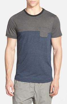 Men's Howe 'Radio Active' Stripe Pocket T-Shirt