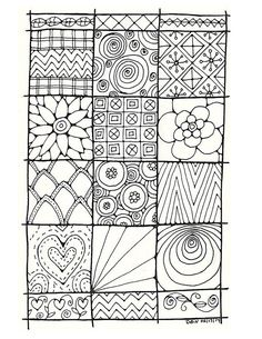 Adult Colouring PageOriginal Hand Draw Art By LittleShopTreasures