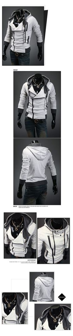 I actually like this hoodie.  Biker Zip Men New Fashion Hoodie Jacket