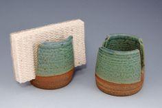 Or business card holder.  Or napkin holder.  Or notepaper holder... Ceramic Sponge Holder by SawyerCeramics on Etsy, $12.50