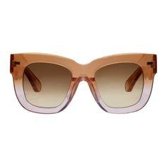 ACNE STUDIOS Orange Library Sunglasses. #acnestudios #