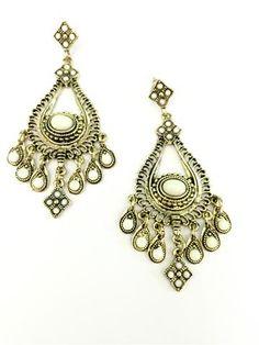 La Bella Donna - Statement σκουλαρικια μπρονζε χρυσο Drop Earrings, Jewelry, Fashion, Moda, Jewlery, Jewerly, Fashion Styles, Schmuck, Drop Earring
