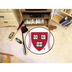 Harvard Crimson NCAA Baseball Round Floor Mat (29)