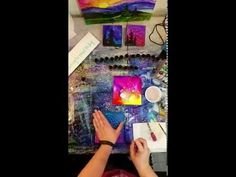 Waiting for Paint to Dry: Time lapse video of Brittainy painting with alcohol inks on canvas. - YouTube