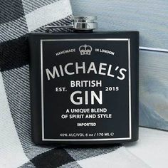 Check this out!! The Kitchen Gift Company have some great deals on Kitchen Gadgets & Gifts Personalised Hip Flask - Gin Design #kitchengiftco