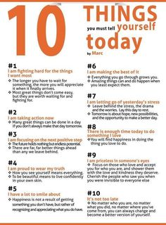 Things you must tell yourself today