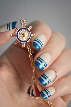 Hydra Island Inspired Nautical Nails
