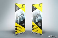 Security Roll-Up Banner - SB by UNIK Agency on @creativemarket Best Presentation Templates, Roll Up Design, How To Find Out, Rolls, Design Templates, Banners, Flyers, Signages, Banner
