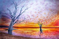 Watercolor sunset Watercolor Sunset, Qr Code Generator, Painting, Design, Art, Painting Art, Paintings, Kunst, Paint