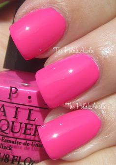 The PolishAholic: OPI Outrageous Neons Mini Set Swatches!