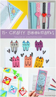 DIY Bookmarks for Kids to Print, Make, Color & More!