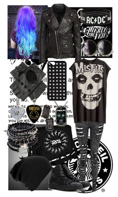 """""""Untitled #72"""" by always-singing ❤ liked on Polyvore featuring Converse, CO, VCUBED, BLK DNM, H&M, GAS Jeans and DC Shoes"""