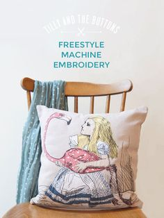 Freestyle Machine Embroidery workshop in London - learn to draw with thread!