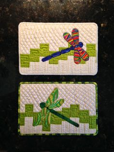 Quilt to the Edge: Dragonfly Postcards and how I made them!