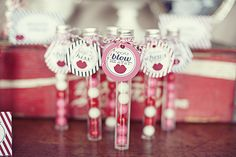 Favors at a Valentine's Party - Make my Day kids goodiebags