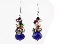 Multi Color Manmade Crystal Earring. Buy Now http://www.etsy.com/listing/118063219/multi-color-manmade-crystal-earring