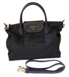 prada saffiano continental zip wallet - Prada BR5116 Nero Sacca 2 Manici Tessuto + Soft Calf Leather Black ...