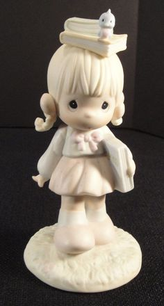 PRECIOUS MOMENTS Figurine Calendar Girl September 1988 110086 Enesco VTG
