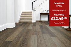 Faux Wood Flooring, Laminate Flooring, Hardwood Floors, Floors Direct, Stock Clearance, Grey Oak, New Homes, Stairs, Home Decor