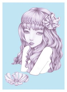 Soak Doll Up - by Fizah Rahim. A personal illustration piece. Prints available on Society6.