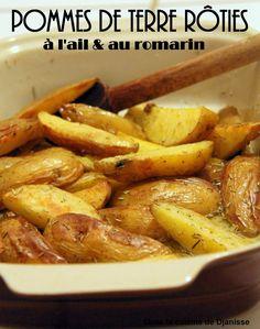 Pommes de terre rôties à l'ail et romarin