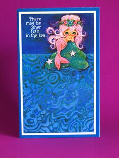 Super Cute Mermaid Valentine's Card - Kitsch 60s Mid Century Blue Belles There May Be Other Fish in the Sea by Sands by FunkyKoala on Etsy