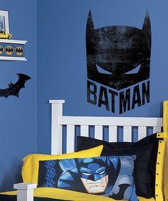Batman Mask Wall Decal by Batman #zulily #zulilyfinds