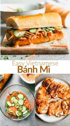 Wrap Recipes, Dinner Recipes, Quick Recipes, Vietnamese Sandwich, Dinner Sandwiches, Wrap Sandwiches, Chicken Sandwich Recipes, Pickled Carrots, Kitchens