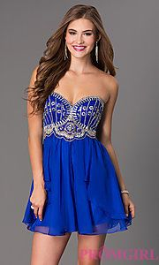 Buy Short Sweetheart Homecoming Dress by Dave and Johnny at PromGirl