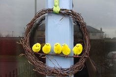 My Easter Wreath by pixie peg crafts, via Flickr