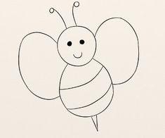 Cum se deseneaza o albinuta - By Oana Tudor, Quilling, David, Symbols, Letters, Art, Diapers, Pintura, Insects