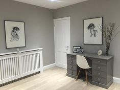 Farrow and Ball purbeck stone Farrow And Ball Living Room, Living Room Paint, Living Room Decor, Grey Wallpaper Living Room, Farrow And Ball Kitchen, Farrow Ball, Farrow And Ball Paint, Stone Colour Paint, Paint Colours