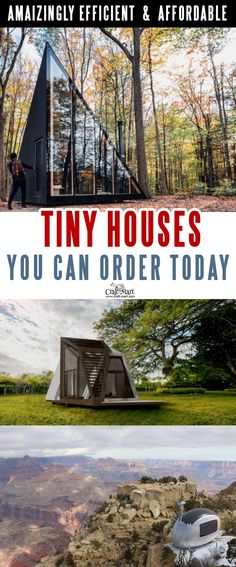 Look at these absolutely awesome tiny houses that you can afford! Some are 100% sustainable and do NOT need any utilities besides internet! You can add custom features from most of the tiny home builders. Keep dreaming on or take an action and get one of these little affordable homes!#tinyhouseplans #tinyhome #tinyhouses #diywoodcrafts #diyproject #realestate #smallhouseplans