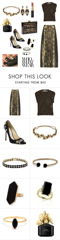 """#IndianWedding Part 2"" by elinaunderscoredavis ❤ liked on Polyvore featuring Sania Studio, Korlekie, Jimmy Choo, Jennifer Behr, Dolce Giavonna, David Yurman, Jaeger, Effy Jewelry, Bing Bang and Marc Jacobs"