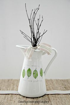Make a painted pitcher