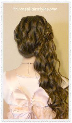 Flower girl or bridal hairstyle tutorial