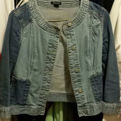 Jean jacket Half sleeve Jean/denim jacket! Super cute and great with spring outfits! I ? Ronson Jeans