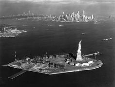 1936 liberty island & new york harbor Old Time Photos, Liberty Island, New York Harbor, Ellis Island, Vintage New York, Historical Images, City Photography, Statue Of Liberty, New York City