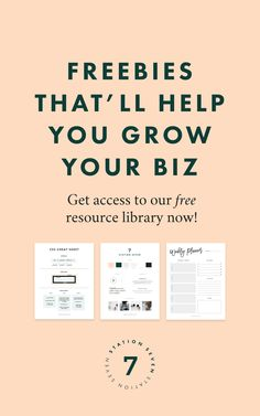 Do you have a small business, blog, or creative shop you want to grow to create your dream biz + life!? We have several freebie resources curated just for you and your needs. Everything from weekly planners, to an Etsy workbook, to CSS for your website or blog! Just click through and you can get instant access to our library.