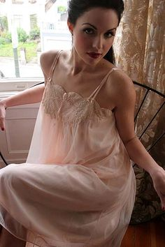 Van Raalte Lingerie | Pinup & Vintage Lingerie - 50s Pink Pleated Nylon & Lace Van Raalte ...