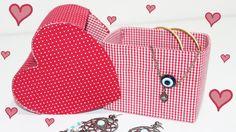 DIY -  Caixa Coração feita com Caixa de Leite  - Segredos de Aline