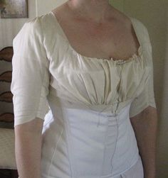 Fitting a bodice muslin.  Excellent tips.