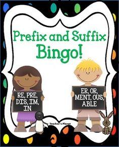 Prefix and Suffix Bingo!