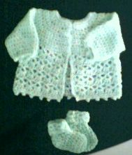 Picot and Lace Sweater Set